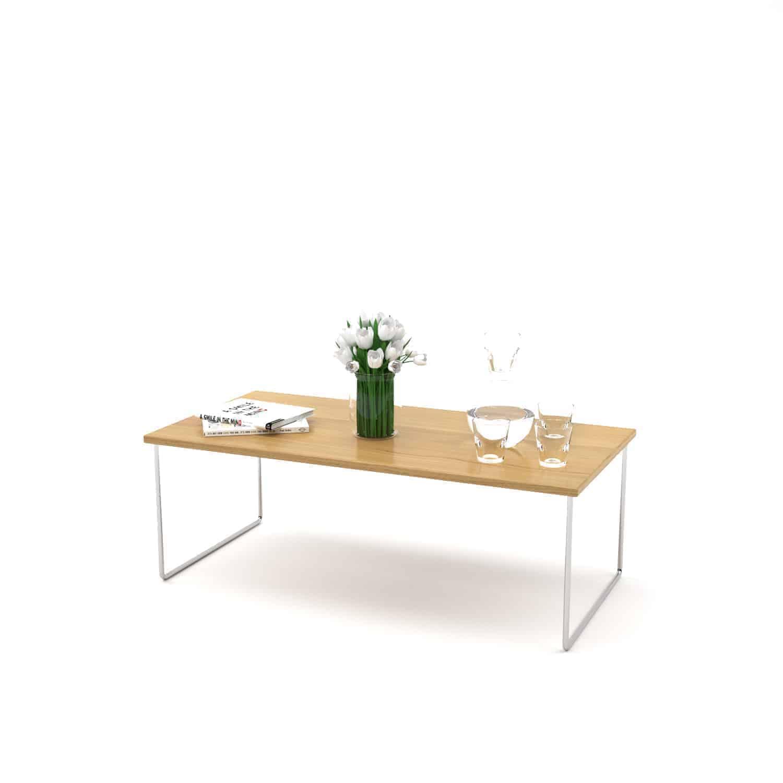 Couchtisch Floating mnmlsm (Holz, Metall, Eiche, Edelstahl) - Stahlzart  Möbel