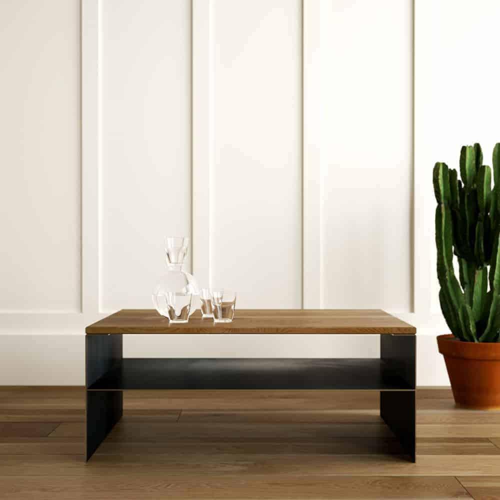 Couchtisch Linea 1 Schwarz Grau Eiche Metall Mobel Online Shop Designmobel Aus Holz Massivholz Metall Stahlzart