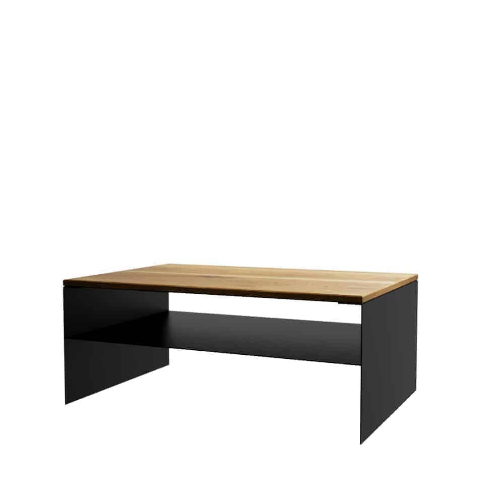 Couchtisch Linea 1 Schwarz Eiche Metall Mobel Online Kaufen Moderne Designmobel Aus Holz Metall Stahlzart