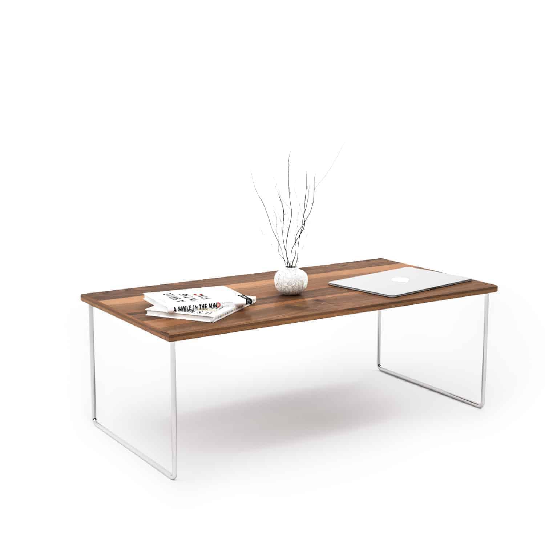 Couchtisch Floating mnmlsm (Holz, Metall, Nussbaum, Edelstahl) • Design  Möbel Online Shop