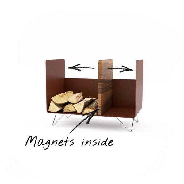 kaminholzregal-innen-brennholzregal-holzaufbewahrung-metall-design-modern-holz-aufbewahrung-kaminholz-brennholz-stahl-braun-edelstahl-nussbaum-magnetmoebel-magic-2-new