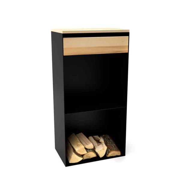kaminholzregal-innen-brennholzregal-holzaufbewahrung-metall-design-modern-holz-aufbewahrung-kaminholz-brennholz-stahl-schwarz-buche-mit-schublade-classic-047-neu