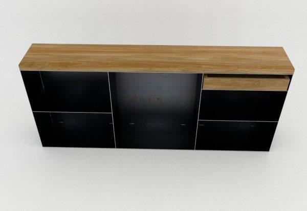 kommode-sideboard-schwarz-grau-eiche-mit-schublade-holz-massivholz-metall-modern-design-stahl-zunderstahl-classic-001
