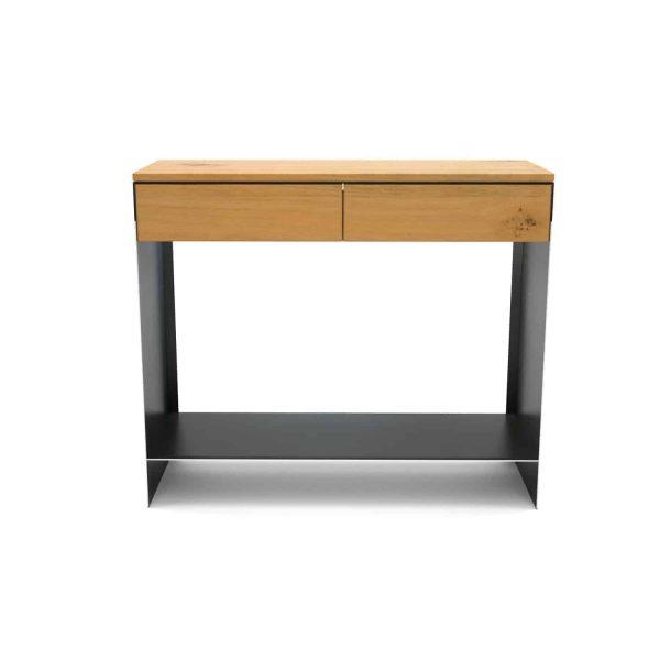 konsolentisch-ablagetisch-flurtisch-schwarz-schmal-holz-konsole-modern-metall-mit-schublade-flur-diele-design-eiche-mnmlsm-new