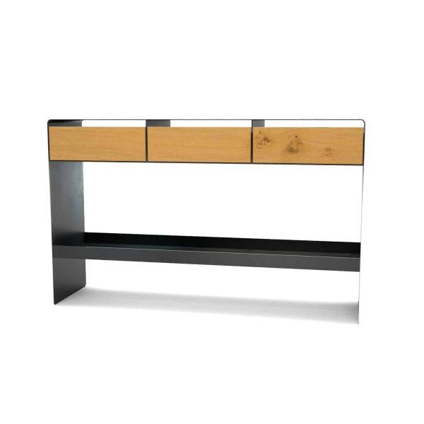 konsolentisch-ablagetisch-flurtisch-schwarz-schmal-holz-konsole-modern-metall-mit-schublade-flur-diele-design-eiche-mystery-neu