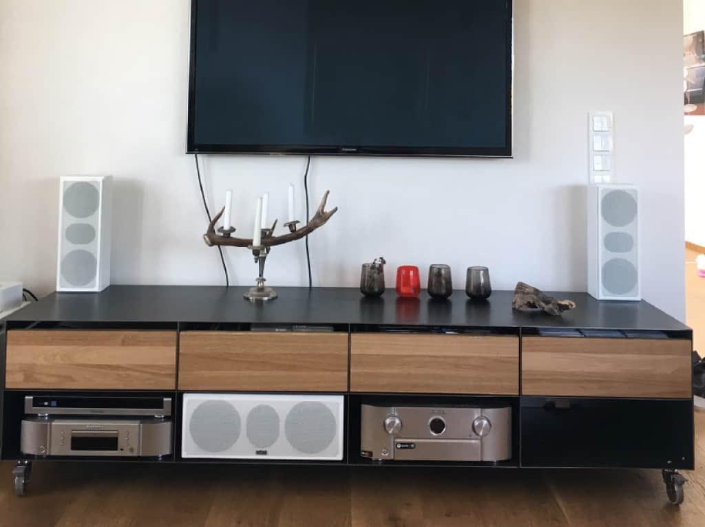Tv Lowboard Sideboard Classic 052 Holz Schwarz Eiche