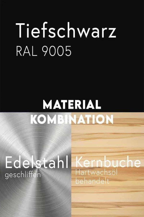 material-kombination-holz-buche-massivholz-kernbuche-metall-stahl-mit-pulverbeschichtung-tiefschwarz-ral-9005-edelstahl-geschliffen