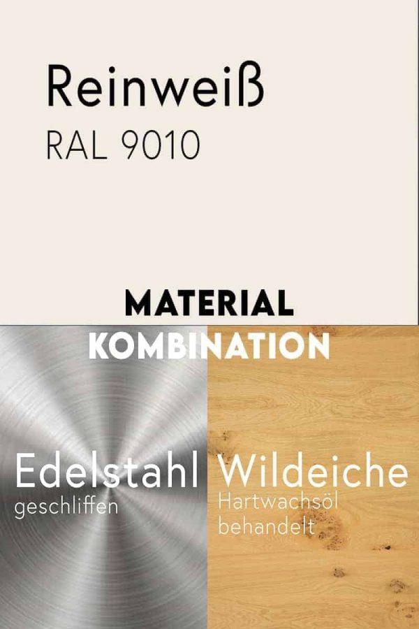 material-kombination-holz-eiche-massivholz-wildeiche-mit-aesten-metall-stahl-mit-pulverbeschichtung-reinweiss-ral-9010-edelstahl-geschliffen