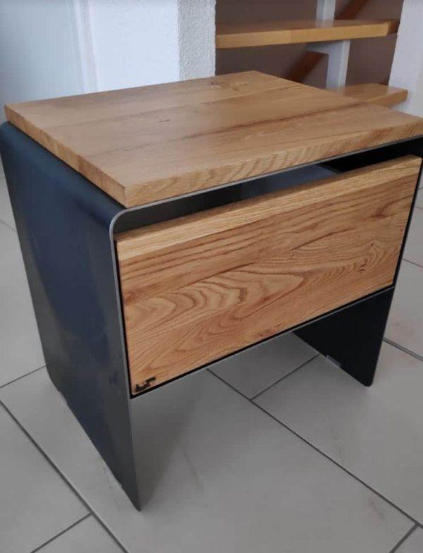 nachttisch-mystery-schwarz-grau-holz-massivholz-metall-design-modern-designer-moebel-wildeiche-stahl