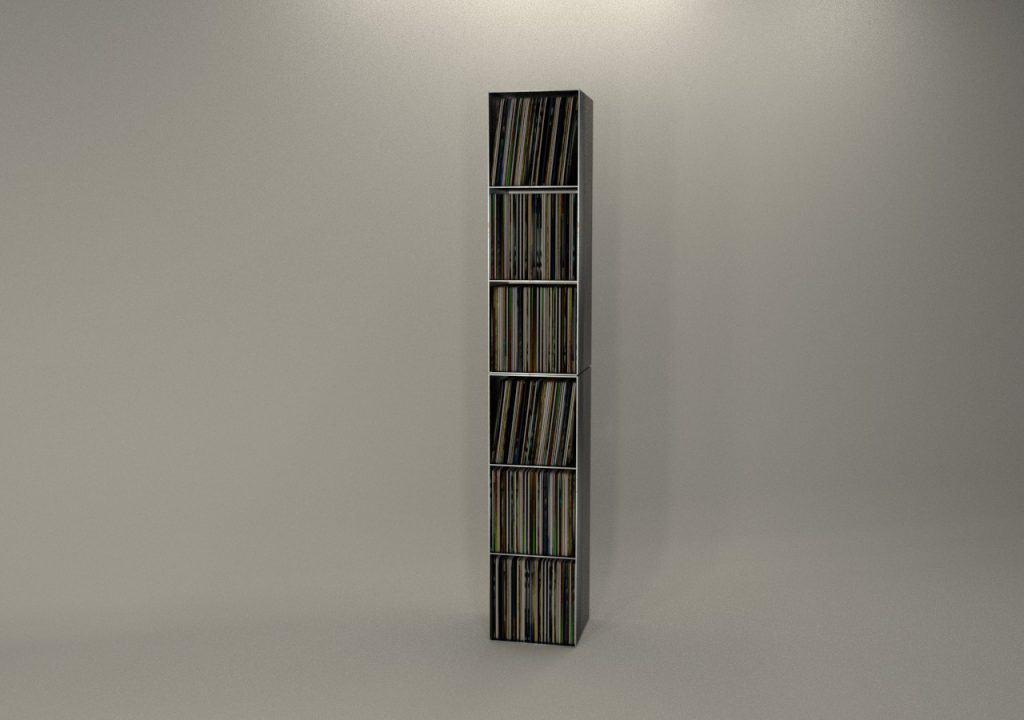Schallplatten Regal Classic 019 Schwarz Grau Metall Stahl Design Möbel Online Shop