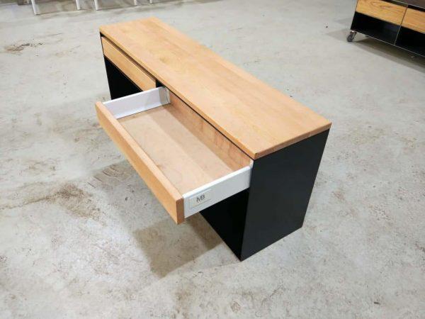 sideboard-lowboard-schwarz-holz-eiche-metall-modern-design-kaminholzregal-innen-mit-schublade-geoeffnet-classic-009
