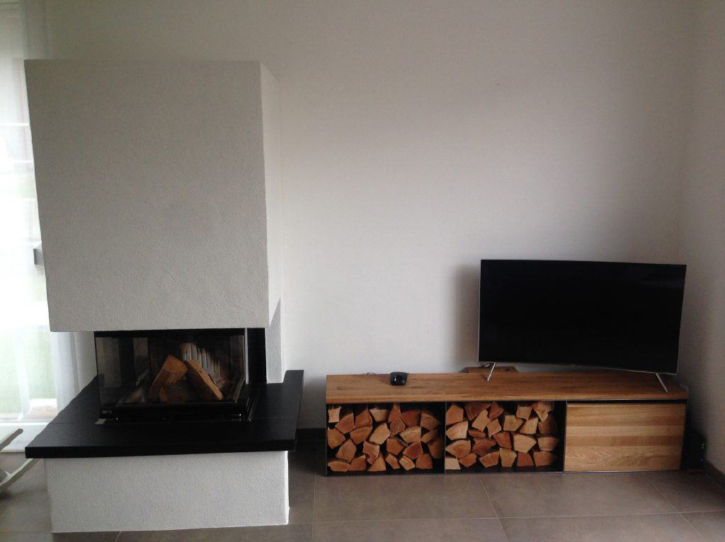 Sitzbank P5 Holz Metall Mit Stauraum Stahlzart