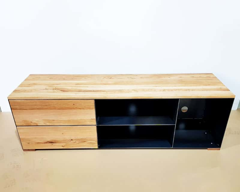 Tv Sideboard Lowboard P3 Schwarz Grau Eiche Metall