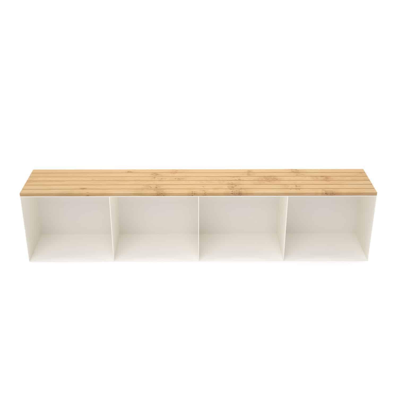 Gartenbank Sitzbank Classic Xl Holz Metall Mit Stauraum Eiche