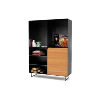 highboard-kommode-schlafzimmer-laerche-holz-mit-tuere-massivholz-modern-design-metall-schwarz-grau-stahl-mit-fuessen-mystery