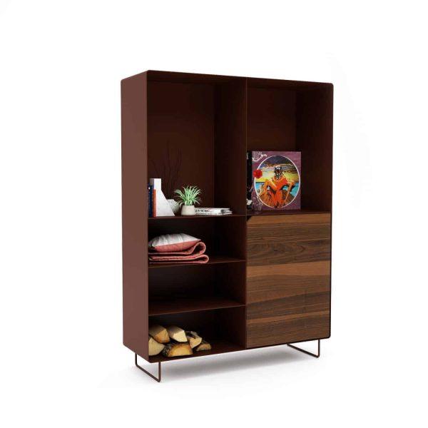 highboard-kommode-schlafzimmer-nussbaum-holz-mit-tuere-massivholz-modern-design-metall-walnuss-braun-stahl-mit-fuessen-mystery-neu