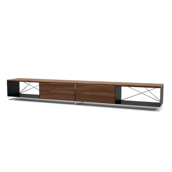 lowboard-tv-board-moebel-fernsehtisch-bank-tisch-holz-metall-nussbaum-design-modern-stahl-massivholz-schwarz-walnuss-pure-mnmlsm-l