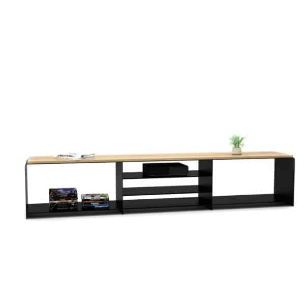 lowboard-tv-board-moebel-fernsehtisch-bank-tisch-schwarz-holz-buche-metall-design-modern-kernbuche-massivholz-stahl-merapi-1