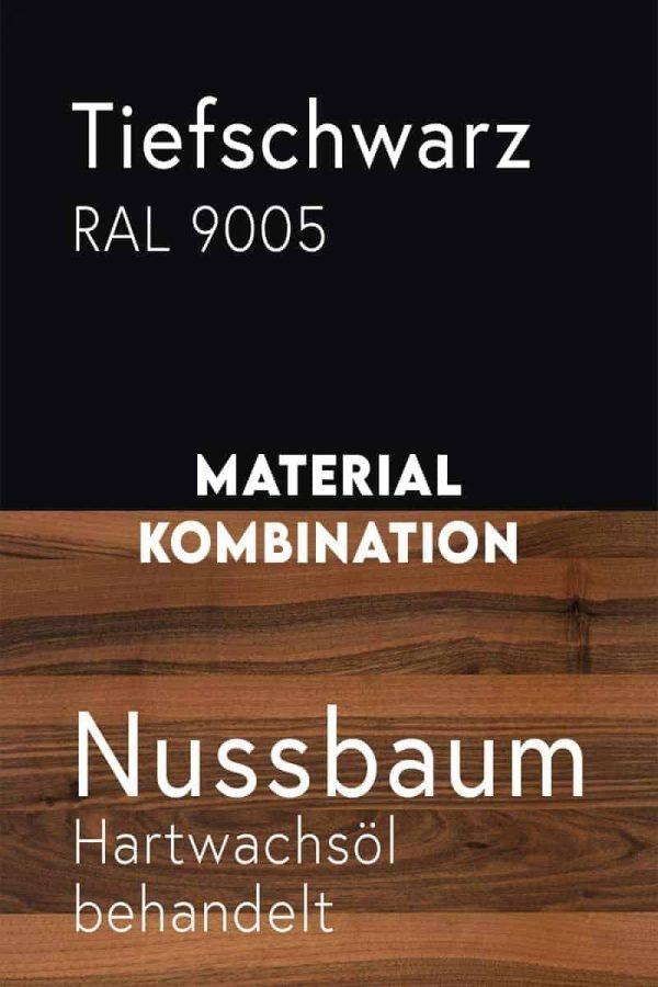 material-kombination-holz-massivholz-nussbaum-walnuss-metall-stahl-mit-pulverbeschichtung-tiefschwarz-ral-9005
