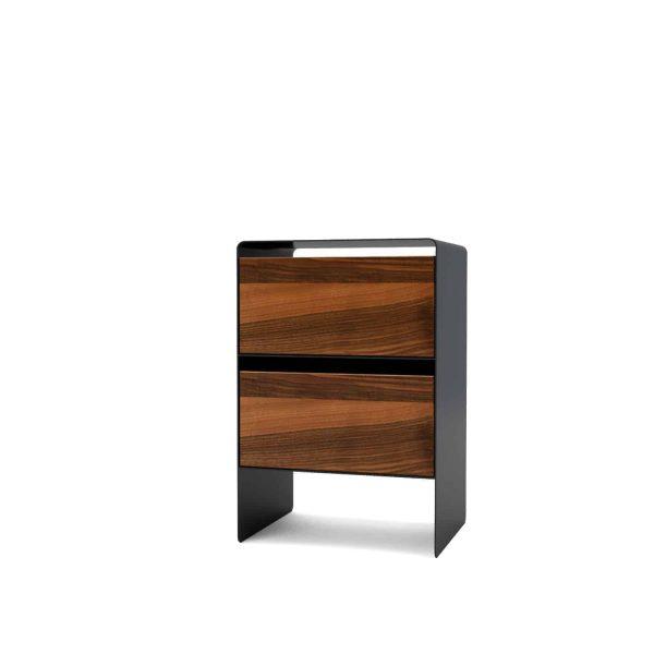 nachttisch-fuer-boxspringbett-nachtkonsole-nachtschrank-schwarzgrau-nachtkaestchen-nachtkommode-holz-nussbaum-metall-modern-design-massivholz