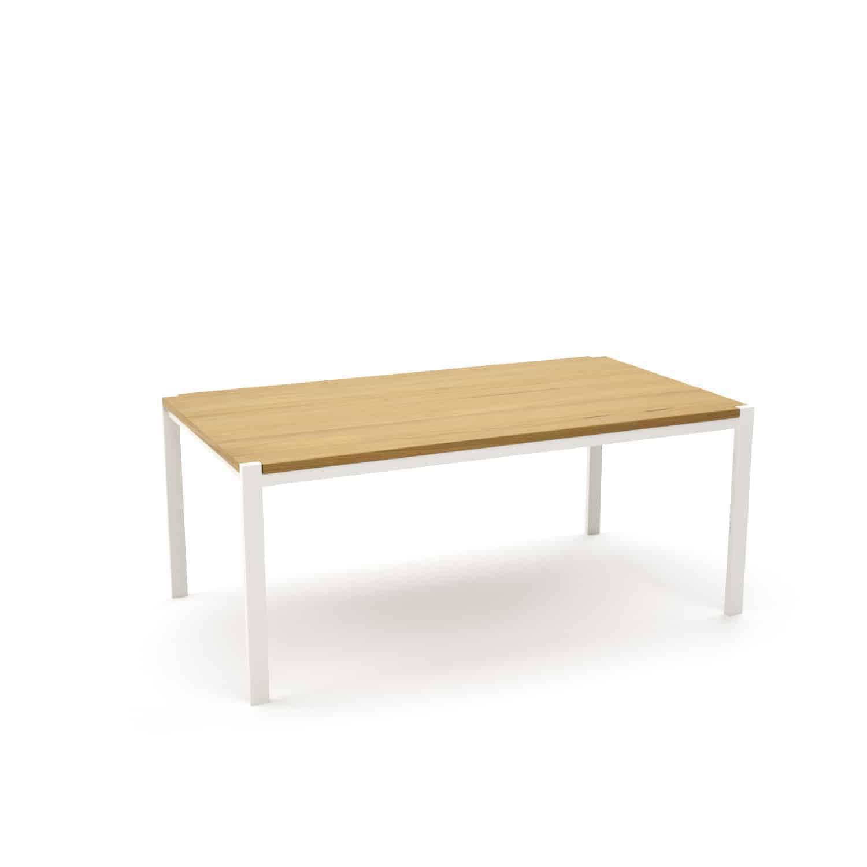 Tisch Ferrum 001 Holz Metall Eiche Astfrei Weiss Esstisch Gartentisch Stahlzart Mobel