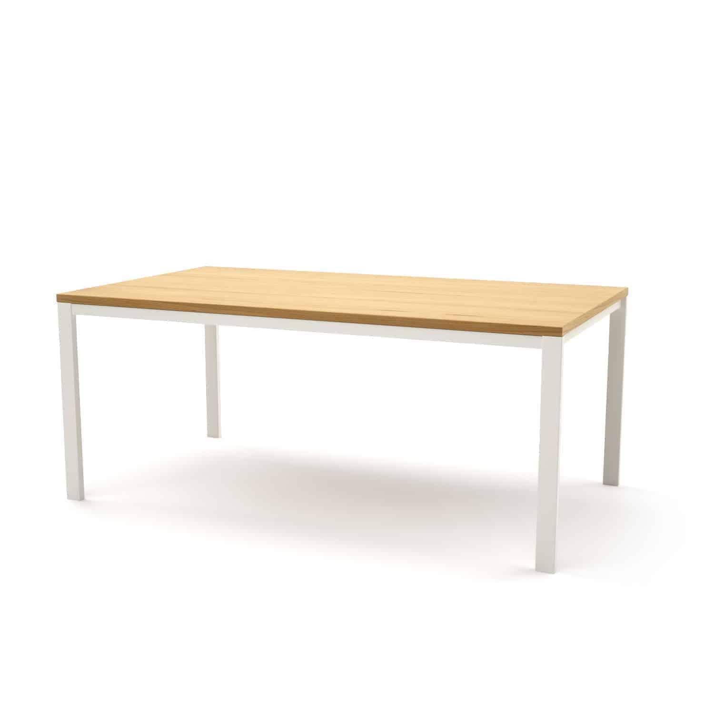 Tisch Ferrum 004 Holz Metall Eiche Astfrei Weiss Esstisch Gartentisch Stahlzart Mobel