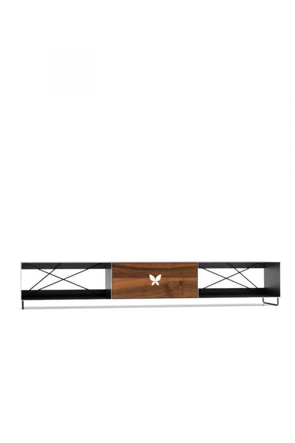 tv-lowboard-schwarz-grau-holz-metall-modern-design-wohnzimmer-massivholz-nussbaum-mit-fuessen-designermoebel-pure-mnmlsm-m