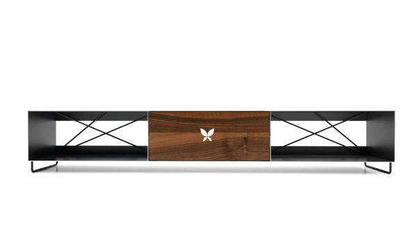 tv-lowboard-schwarz-grau-holz-metall-modern-design-wohnzimmer-massivholz-nussbaum-schwarzstahl-designermoebel-pure-mnmlsm-m