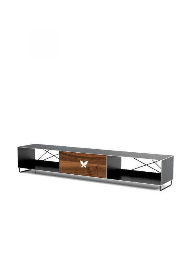 tv-lowboard-schwarz-grau-holz-metall-modern-design-wohnzimmer-massivholz-nussbaum-stahl-designermoebel-pure-mnmlsm-m
