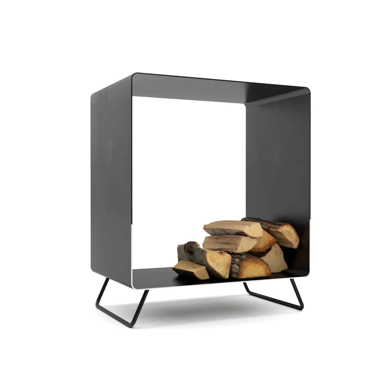 Kaminholzregal Timeless 8 (innen, Metall, Wohnzimmer, design) • Stahlzart