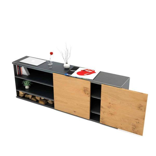 kommode-sideboard-holz-eiche-schwarz-grau-massivholz-design-metall-modern-wildeiche-mit-schiebetueren-herausnehmbar-stahl-the-flowboard