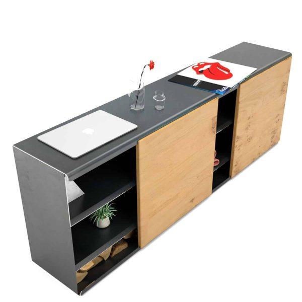 kommode-sideboard-holz-eiche-schwarz-grau-massivholz-design-metall-modern-wildeiche-mit-schiebetueren-stahl-rohstahl-the-flowboard