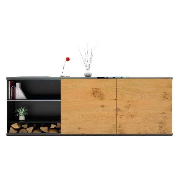 kommode-sideboard-holz-eiche-schwarz-grau-massivholz-design-metall-modern-wildeiche-mit-schiebetueren-stahl-the-flowboard