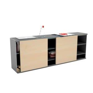 kommode-sideboard-holz-schwarz-grau-massivholz-design-metall-modern-mit-schiebetueren-ahorn-stahl-the-flowboard