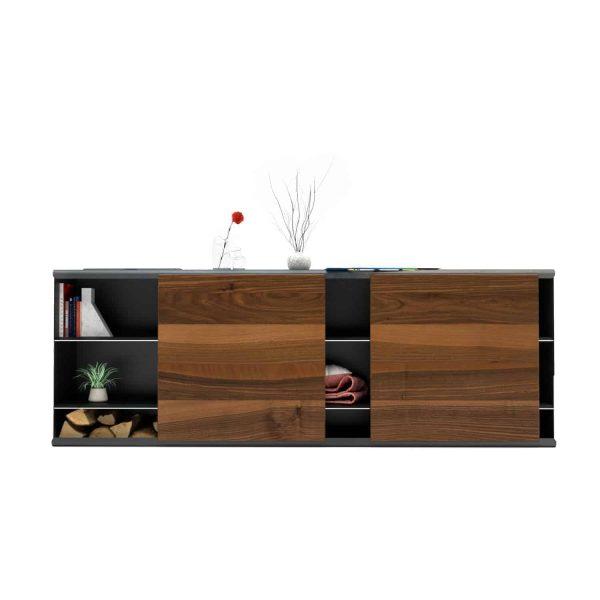kommode-sideboard-holz-schwarz-grau-massivholz-nussbaum-design-metall-modern-mit-schiebetueren-stahl-walnuss-the-flowboard