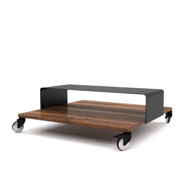 couchtisch-wohnzimmertisch-holz-schwarz-modern-massivholz-metall-design-nussbaum-quadratisch-klein-mit-rollen-massiv-stahl-alu-m.a.m.-1