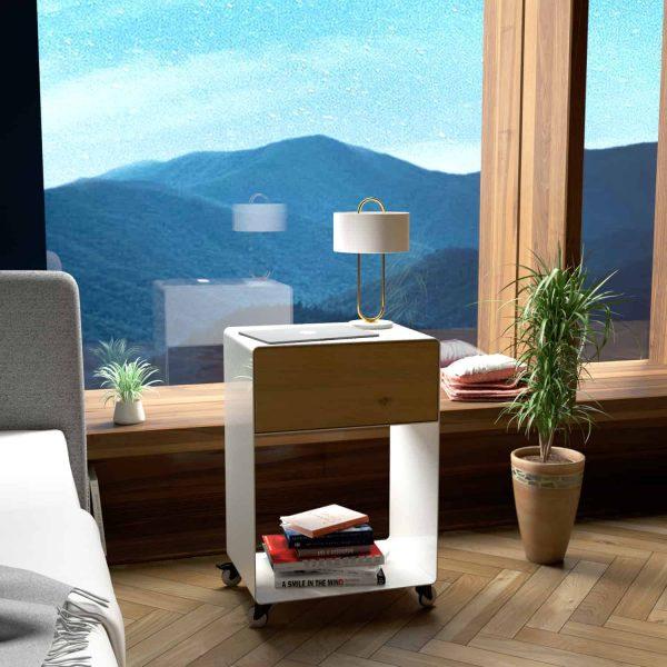 nachttisch-weiss-holz-eiche-metall-modern-design-massivholz-mit-schublade-wildeiche-mit-rollen-schlafzimmer-interior-stahl-m.a.m.-3
