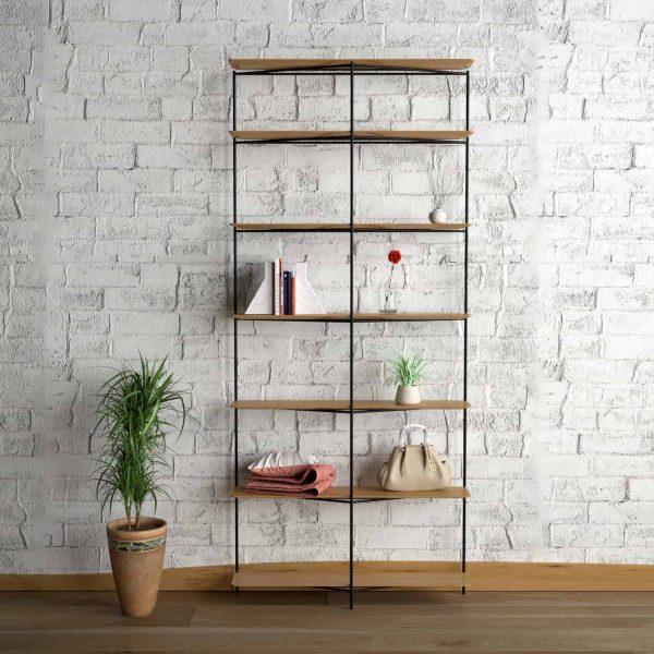 regal-holz-eiche-schwarz-metall-stahl-wildeiche-design-modern-interior-wohnzimmer-designer-stahlzart-impossible