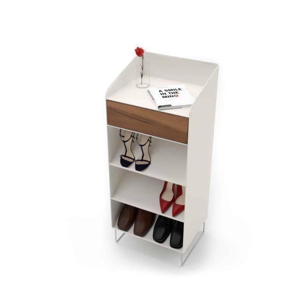 schuhschrank-weiss-flurmoebel-schmal-schuhkommode-holz-metall-modern-design-massivholz-designermoebel-stahlzart-nussbaum-stahl-fly-high-1