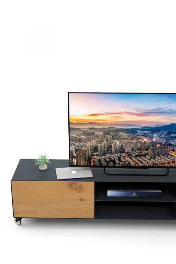 lowboard-tv-grau-anthrazit-holz-eiche-metall-modern-design-massivholz-wildeiche-schublade-aluminium-rollen-3mm-stahl-designer-hollywood-7