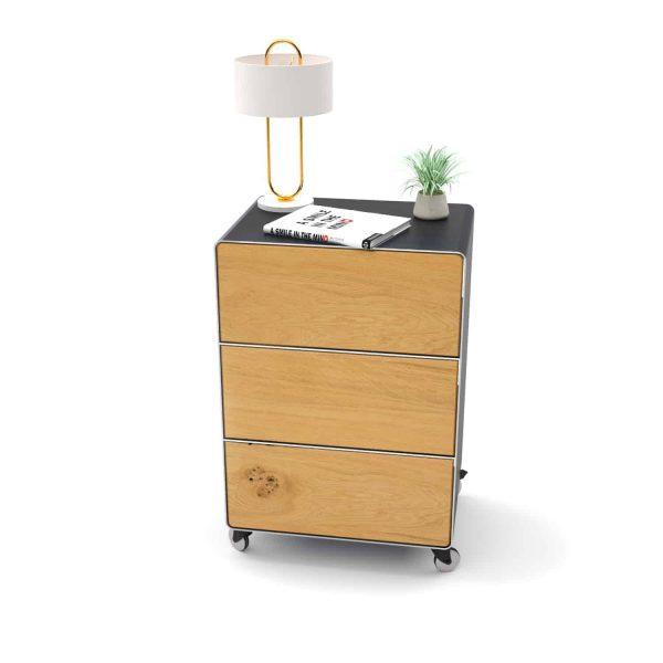 nachttisch-fuer-boxspringbett-schwarz-grau-holz-eiche-metall-modern-design-mit-schubladen-mit-rollen-designer-interior-schlafzimmer-m.a.m.-5-neu