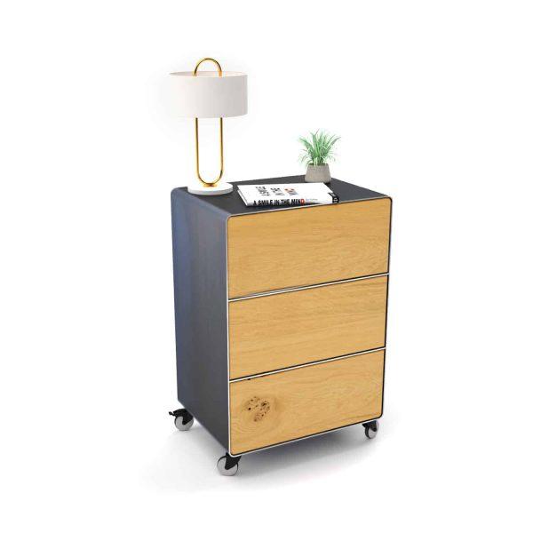 nachttisch-fuer-boxspringbett-schwarz-grau-holz-eiche-metall-modern-design-mit-schubladen-mit-rollen-designer-schlafzimmer-m.a.m.-5-neu