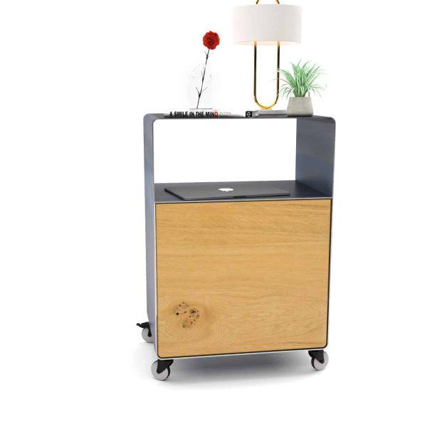 nachttisch-fuer-boxspringbett-schwarz-grau-holz-eiche-metall-modern-design-mit-tuer-mit-rollen-designer-interior-schlafzimmer-m.a.m.-4-neu