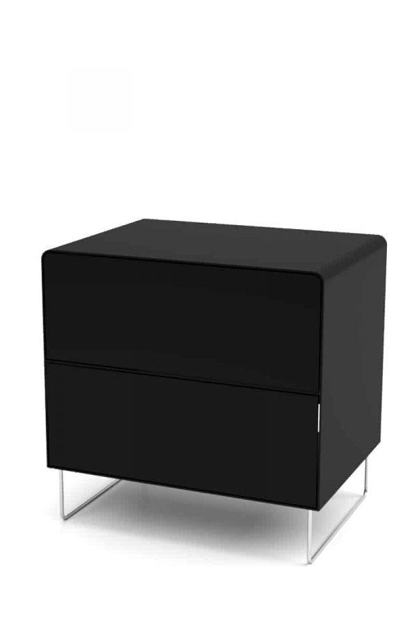 nachttisch-schwarz-metall-modern-design-designer-mit-schubladen-stahl-edelstahl-fuesse-fly-high-5s-galaxy-black