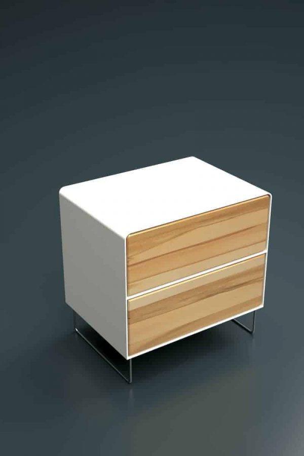 nachttisch-weiss-holz-metall-modern-design-buche-kernbuche-mit-schubladen-edelstahl-fuessen-designer-fly-high-5s