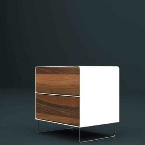 nachttisch-weiss-holz-metall-modern-design-massivholz-nussbaum-mit-schubladen-edelstahl-designer-fly-high-5s