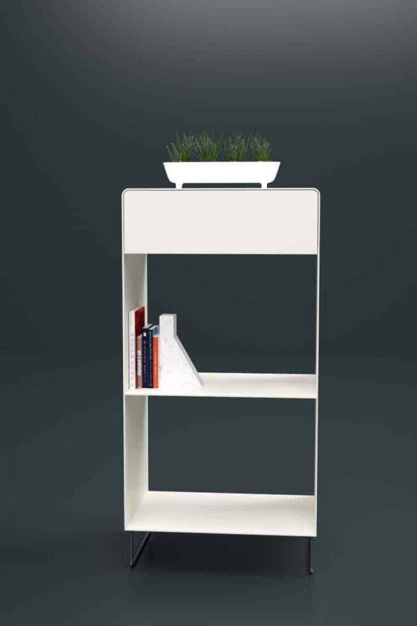 regal-weiss-metall-chrom-design-modern-designer-minimalistisch-edelstahl-mit-schublade-fly-high-1s-snow-white