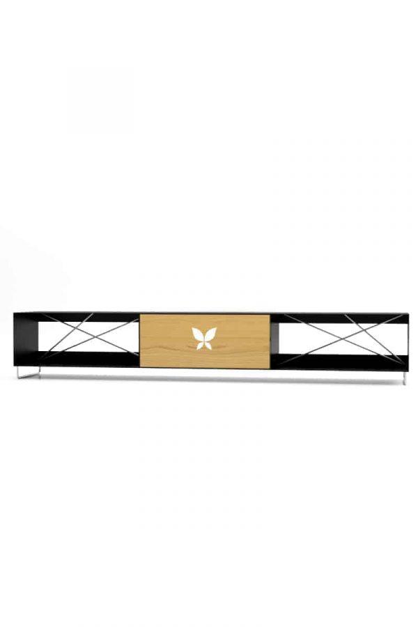 lowboard-schwarz-tv-board-moebel-fernsehtisch-bank-tisch-holz-eiche-astfrei-metall-designermoebel-modern-massivholz-stahl-edelstahl-pure-mnmlsm-m