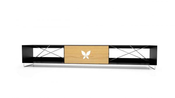 lowboard-schwarz-tv-board-moebel-fernsehtisch-bank-tisch-holz-eiche-metall-designermoebel-modern-massivholz-stahl-edelstahl-pure-mnmlsm-m