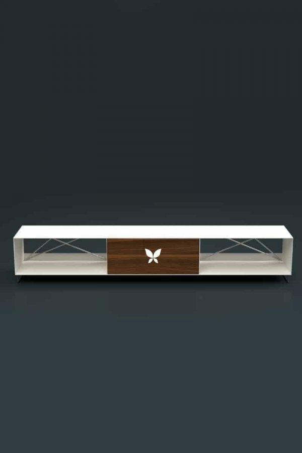 lowboard-weiss-holz-tv-board-moebel-fernsehtisch-bank-tisch-metall-design-modern-wohnzimmer-massivholz-nussbaum-mit-fuessen-edelstahl-pure-mnmlsm-m